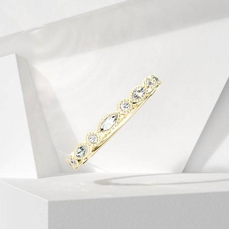Alliance Lepage Léontine en or jaune et diamants