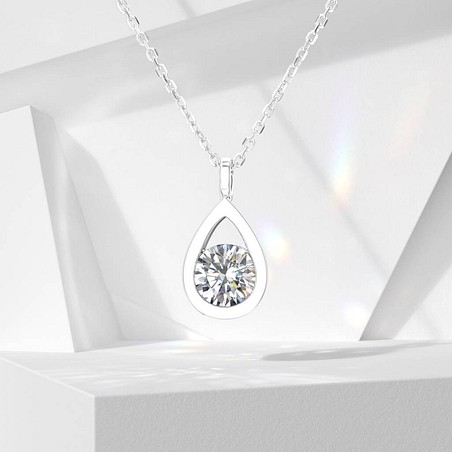 Collier Lepage Clyde en or blanc diamant brillant