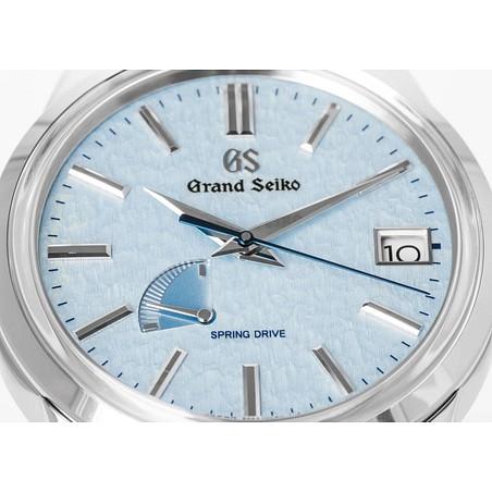 Montre Grand Seiko Elegance Spring Drive cadran bleu bracelet cuir noir 40,2 mm