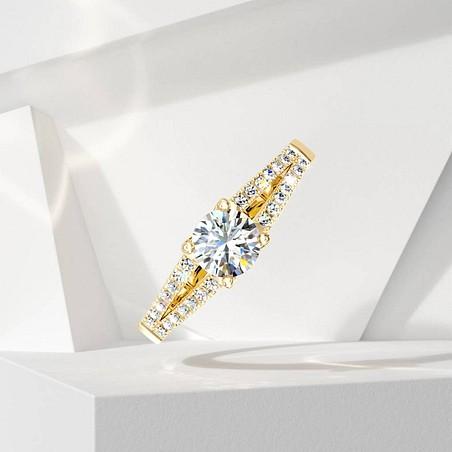 Solitaire Lepage Première Dame en or jaune et diamants