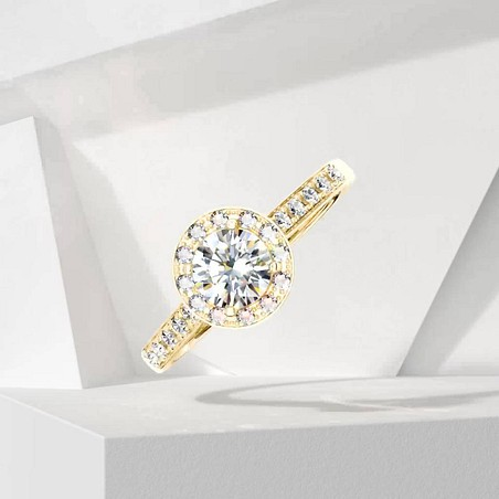 Solitaire Lepage Coquette en or jaune et diamants