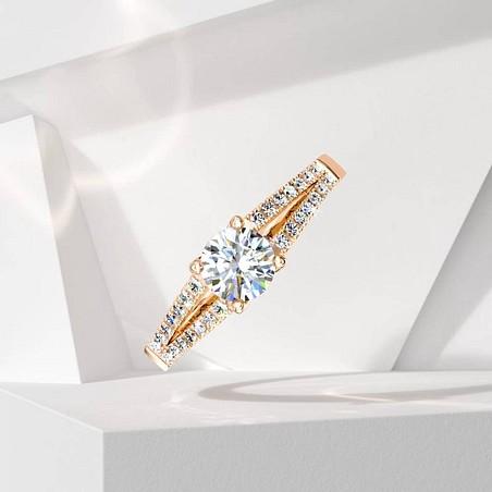 Solitaire Lepage Première Dame en or rose et diamants