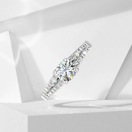 Solitaire Lepage Première Dame en or blanc et diamants