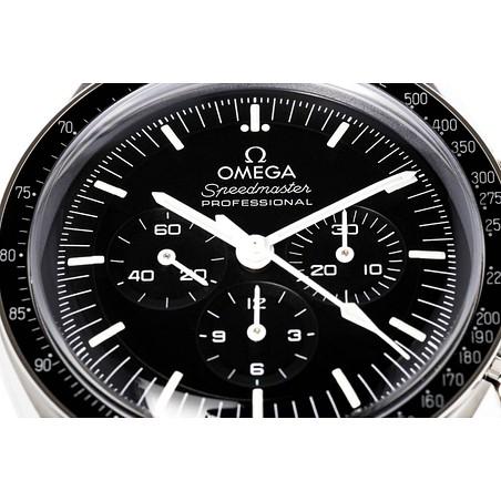 Montre Omega Speedmaster Moonwatch Professional Chronographe Co-Axial Master Chronometer verre hésalite bracelet acier 42 mm